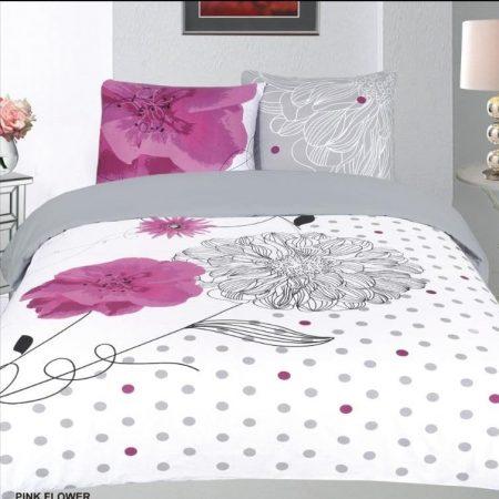 Pink flower Dekbedovertrek