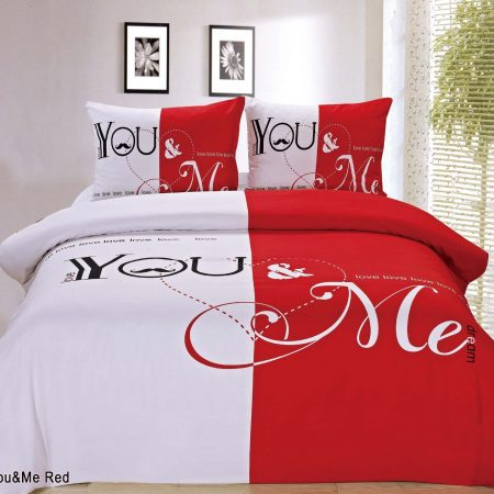 You&me red Dekbedovertrek