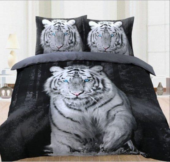 white tiger dekbedovertrek
