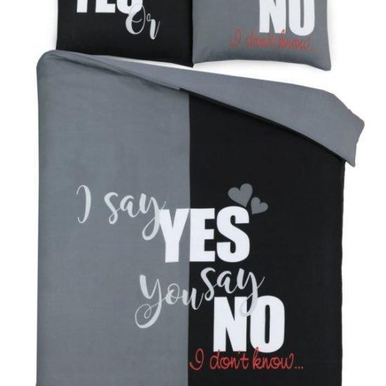 Dekbedovertrek yes or no grey