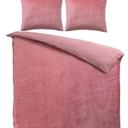 Roze dekbedovertrek Velvet
